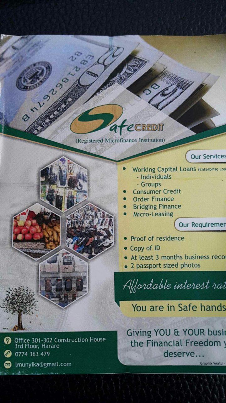 StartupBiz Zimbabwe Small Business Interview: Safe Credit PL, Micro-finance Industry